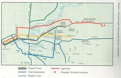 Doncaster line report 1991 - proposed light rail and tram options