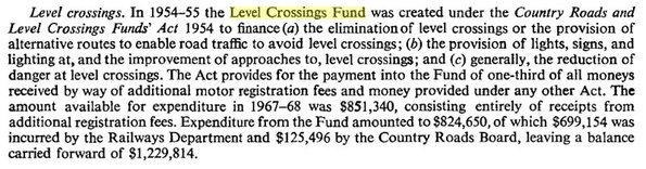 Level Crossings Fund 1954