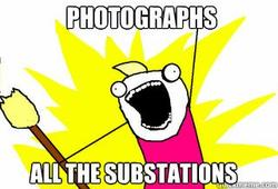 Photograph all the substations