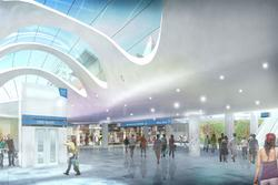 CBD North station, artists impression of the concourse