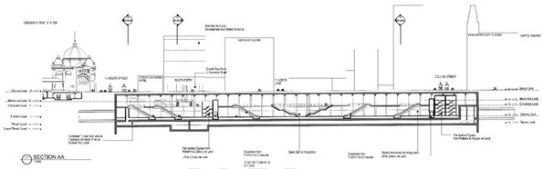 Figure 5-9 Concept for CBD South Station (long section)