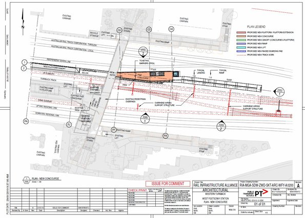 West Footscray turnback plans - new concourse