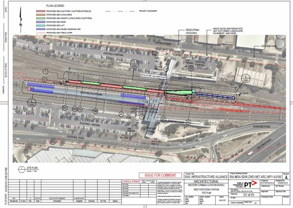 West Footscray turnback plans - site plan