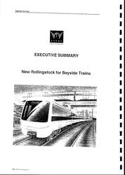 Proposed Clyde Engineering train for Bayside Trains cover