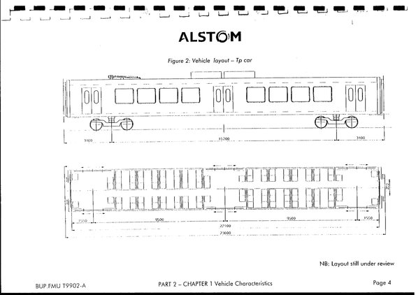 X'Trapolis train detail from Hillside Trains contract plans Tp carriage