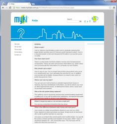 More up to date information from Myki - buying a short term Myki from the bus driver in April 2013