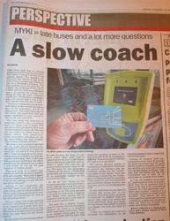 Myki opinion piece in the Geelong Advertiser - Saturday 14 March 2009