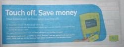 Other half of the quarter page myki rollout at in the Geelong Advertiser - March 7 2009