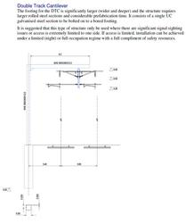 Double Track Cantilever stanchion diagram
