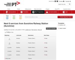 Ever noticed how useless the PTV 'Next 5' listing is for services on the Sunbury line - every service is considered an 'express' just because it doesn't stop at South Kensington.