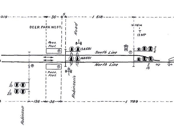 I always laughed at the non-existent platforms at Deer Park West, marked on this signal diagram from 1976