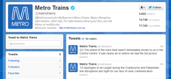 Metro Trains apologies for having no idea