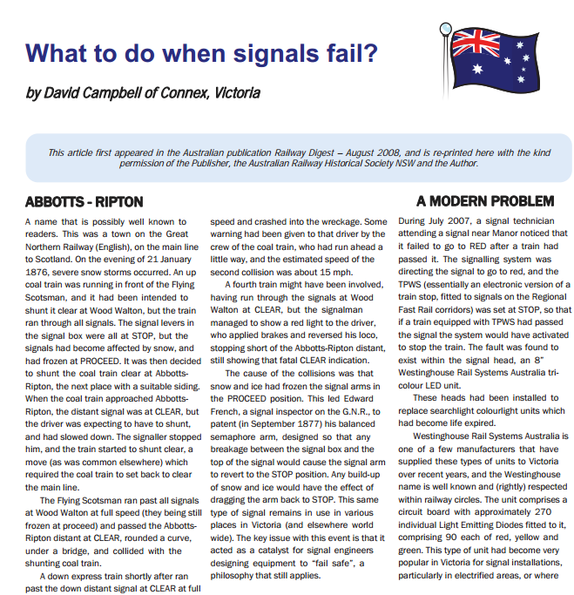 What to do when signals fail
