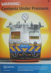 Metro Trains 'Stay on top of SPADs this summer' poster