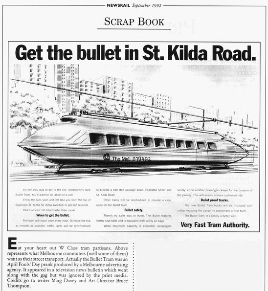 'Get the bullet in St Kilda Road'