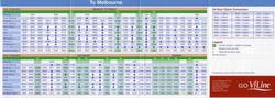February 2006 VLine Geelong line timetable featuring VLocity trains - to Melbourne