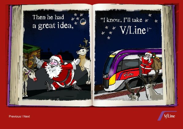 VLine 2011 Christmas card